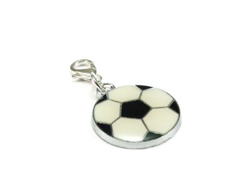 Soccer Ball Purse Charm Zipper Pull Sports Style Clip On Charms