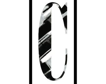 """Framed letterpress """"C"""""""