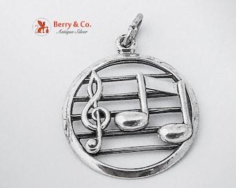 SaLe! sALe! Lovely Sheet Music Pendant Sterling Silver