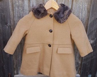 Girls 1950's Vintage Coat
