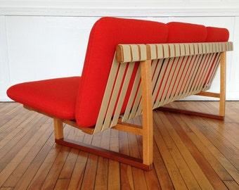 Mid Century Danish Borge Mogensen Oak and Teak Sofa for Fredericia Stolefabrik