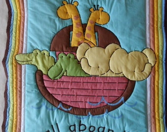 All Aboard Quilted Blanket