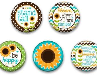Sunflower Inspirational Magnets - Inspirational Magnet - Inspirational Gift - Fridge Magnet - Fridge Magnets - Sunflower Decor Magnet