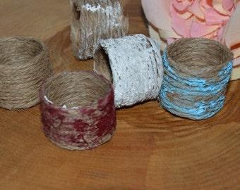 Set of 12 Jute napkin rings,Rustic napkin rings, Wedding napkin rings ,Christmas wedding, Christmas table