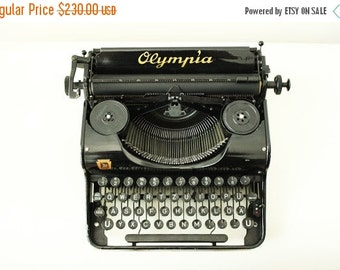 ON SALE -30% Vintage 1940 Olympia Typewriter made in Germany