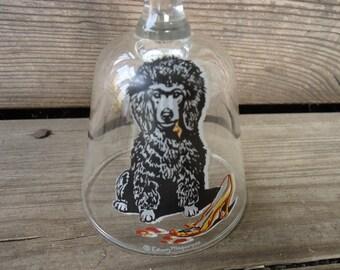 Black Poodle Crystal Bell