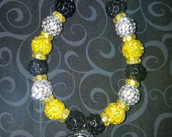 Pittsburgh Steelers charm bracelet