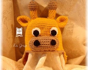 """Giraffe"" hat (made to order)"