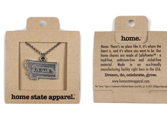 Montana Necklace - Home State Apparel Montana Home Necklace Charm, MT