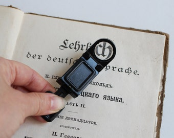Vintage Magnifying Glass, Soviet Loupe, Hand Lens Tool, Folding Magnifier 7X, Soviet Lens Glass, Back to School, USSR Collectible