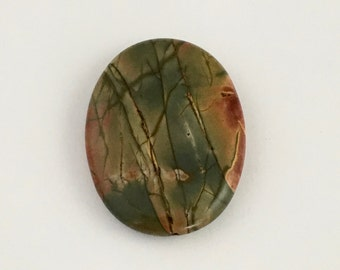 1 Picasso jasper stone bead / 30mm x 40mm  #PP014-11