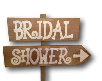 Rustic Bridal Shower Sign/ Bridal Shower Yard Sign/ Bridal Shower Welcome Sign
