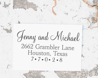 Wedding Address Stamp, Wedding Return Address Stamp, Self inking Return Address, Wedding Invitation Stamps,   Address Stamp,  10176