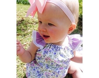 Spring Blossom Lilac Romper Playsuit