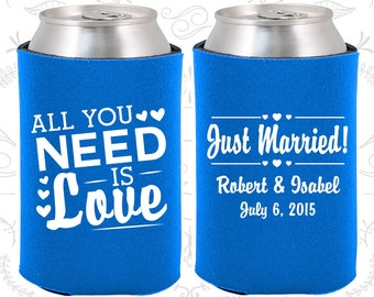 Cerulean Blue Wedding, Can Coolers, Cerulean Blue Wedding Favors, Cerulean Blue Wedding Gift, Cerulean Blue Party Favors (527)