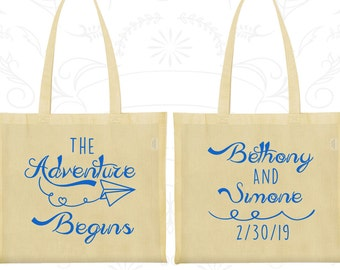 The Adventure Begins Bags, Imprinted Tote Bag Canvas, Kite, Destination Bags, Bags and Totes (294)