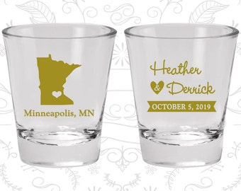 Minnesota Shot Glass, Minnesota Shot Glasses, Minnesota Glass, Minnesota Glasses, Minnesota Glassware (122)
