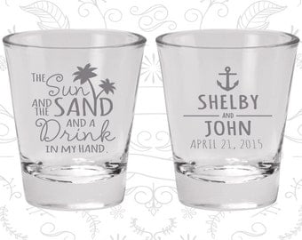 Custom Shot Glasses (C233) Personalized Shot Glasses, Shot Glasses, Shot Glass, Shot Glass Favors, Wedding Favor Shot Glasses