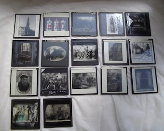 Magic lantern slides c1900 religious scenes , Lot 2, steampunk