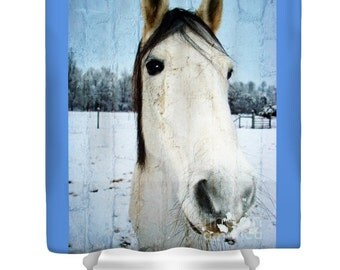 Horse Shower Curtain Etsy