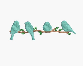 Instant download Machine Machine Embroidery  design Silhouette bird