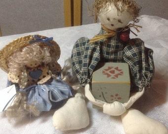 60% Off Sale Shelf Dolls - Vintage