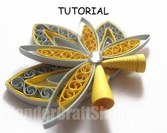 DIY paper quilled Christmas ornament, christmas decoration pattern, quilling tutorial, quilling instructions, instant download, pdf