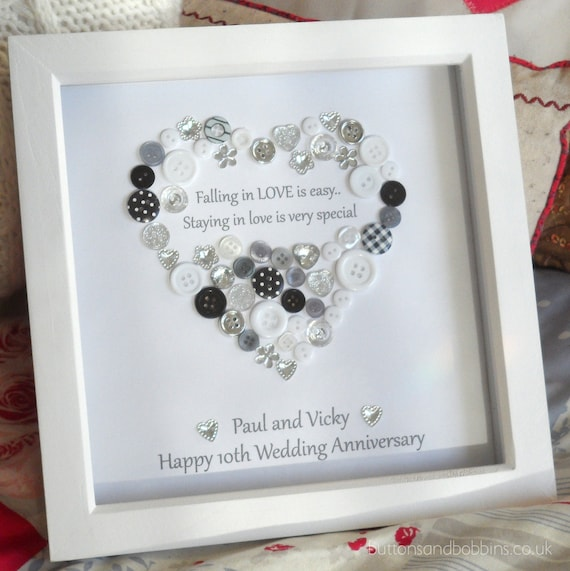 Personalised heart wedding anniversary by