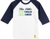 This Little 12 Tackles Cancer - Strong Against Cancer Shirt