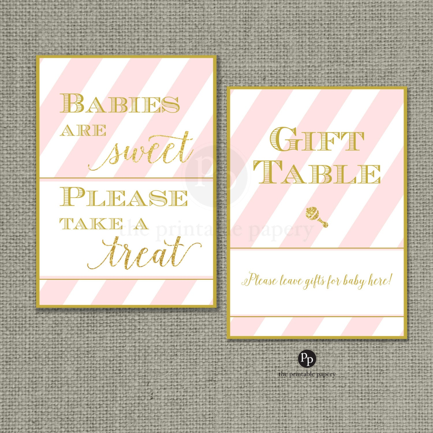 baby shower table signs 5x7 baby shower by theprintablepapery