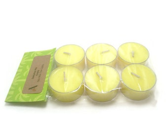 Scented Soy Tea Lights - Package of 6 - Jamaica Me Crazy, Wedding, Housewarming, Birthday, Shower Favor, Gift Under 10