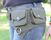 The Hipster, Cotton Utility Belt, Festival Belt, Pocket Belt, Bum Bag, Hip Bag, Festival Fanny Pack