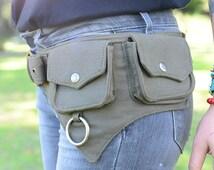 The Hipster, Cotton Utility Belt, Festival Belt, Pocket Belt, Bum Bag, Hip Bag, Festival Fanny Pack