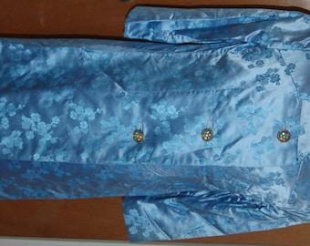 Amazing 1950's brocade ladies dress/coat suit. Beading detail.