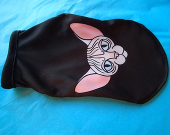 SALE ... Sphynx Cat clothing -Sphynx Black  tops available in Sizes Kitten, Small, Med & Large