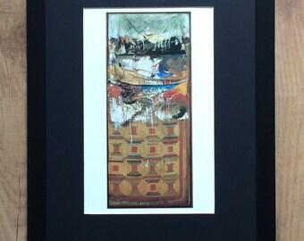 "Framed and Mounted Bed by Robert Rauschenberg  - 16"" x 12"" - Pop Art"