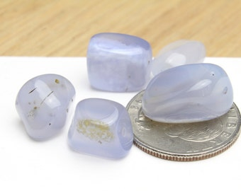Genuine Natural Chalcedony Gemstone Nuggets 10-20mm 5pcs