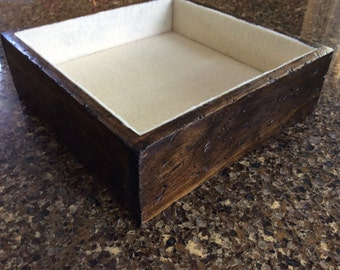 Distressed Essential Oil Storage Box in Dark Walnut Finish