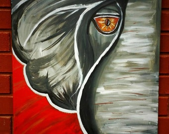 Beautiful Handpainted Alabama Crimson Tide Elephant on 18x24 canvas *Roll Tide*