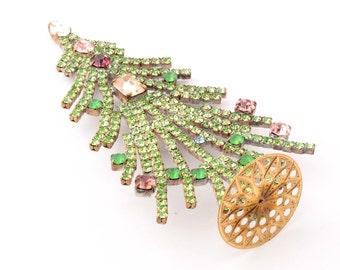 Free standing designer handmade Czech rhinestone jewelled Christmas tree ornament decoration 109-5