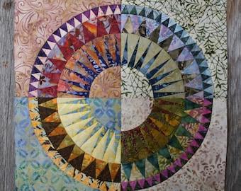 New York Beauty Quilt Block Paper Piecing Pattern - Block Z