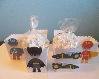 Superhero popcorn boxes(20) Superhero boxes,Superhero Birthday,Superhero Party