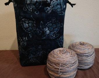Turtles Medium Drawstring Project bag