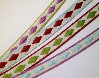 """1 m Woven Ribbon """"Diamond"""" 10 mm w."""