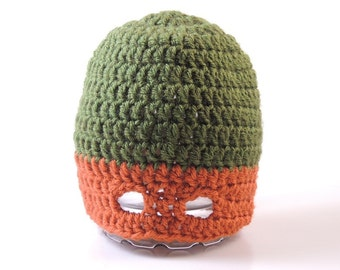 Teenage Mutant Ninja Turtles (TMNT) Inspired Mask Beanies - Seven Sizes - Four Colors - Made-to-Order