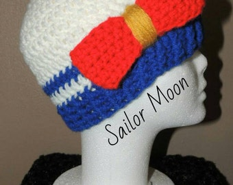Sailor Soldiers Inspired Beanies - Sailor Moon, Sailor Mercury, Sailor Mars, Sailor Jupiter, Sailor Venus - Seven Sizes - Made-to-Order