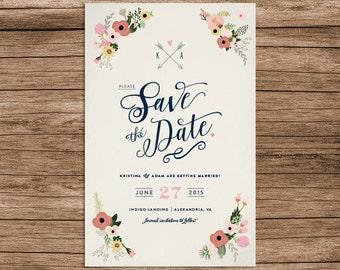 Elegant Save the Date – Printable, Customizable