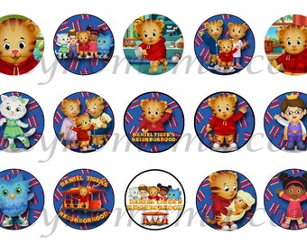 INSTANT DOWNLOAD One Inch 4x6 Bottle Cap Images: Daniel Tiger's Neighborhood Makebelieve Daniel Tiger Owl Prince Wednesday Katerina Elaina