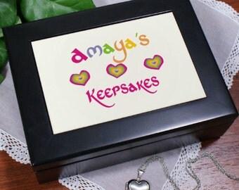 Personalized My Treasures Keepsake Box