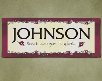 Personalized No Place Like Home Wall Canvas